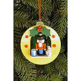 Tree ornament Globe with Nutcracker  -  6,7 x 7,4cm / 2.6 x 2.9inch