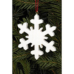 Tree ornament Icecrystal natural  -  6,6 x 6,6cm / 2.6 x 2.6inch