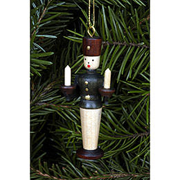 Tree ornament Miner natural colors  -  5,5cm / 2 inch