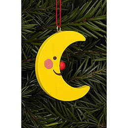 Tree ornament Moon   -  3,6 / 4,7cm  -  2 x 2 inch