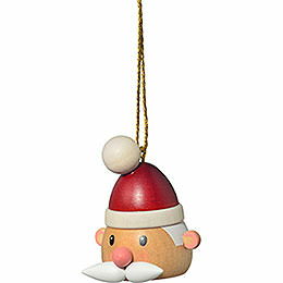 "Tree ornament ""Santa Claus' head""  -  5cm / 2inch"