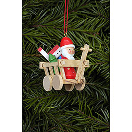 Tree ornament Santa in Car  -  5,4 x 4,7cm / 2.1 x 1.7inch