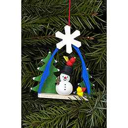 Tree ornament Snowman  -  7,4 x 6,3cm / 3 x 2 inch