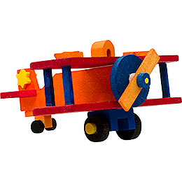 Tree ornament airplane orange and red  -  5cm / 2inch