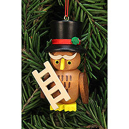 Tree ornament owl chimney sweep  -  3,2x6,2cm / 1.3x2.4inch