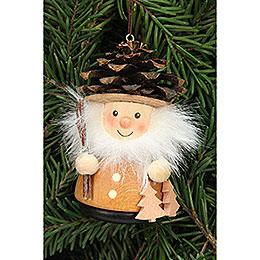Tree ornament teeter man cone man natural  -  8,0cm / 3.1inch