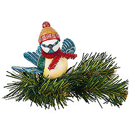 Tree ornament tree clip blue tit  -  6,5cm / 2,5inch