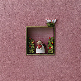 """Wall picture """"For the loving""""  -  18x18x5cm / 7x7x2inch"""