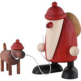 Weihnachtsmann m.Dackel Waldemar  -  9cm