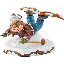 Winter Children Girl on Ski Belly Flopper  -  7cm/3 inch