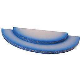 Wolke  -  2 - stufig  -  blau  -  27x12x2cm